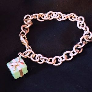 TIFFANY BLUE BOX CHARM WITH BRACELET